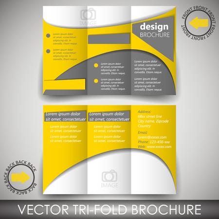 Tri-fold corporate business store brochure Vector