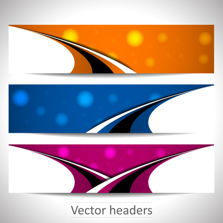 Web headers, set of vector banners Illustration
