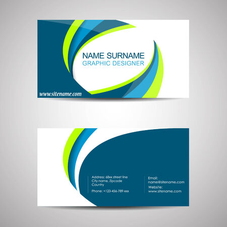 Business Card Template Or Visiting Card