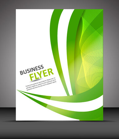 Professsional business flyer template or corporate banner Vector