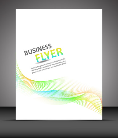 Professsional business flyer template or corporate banner Illustration