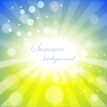 Abstract vector background with summer theme Illustration