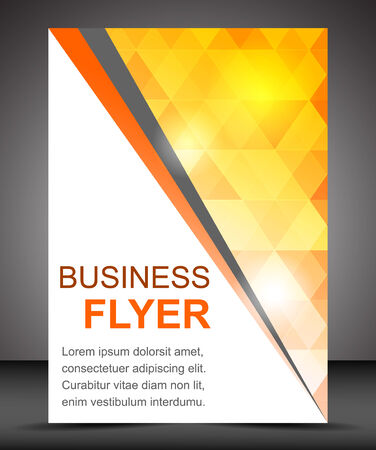 cover design: Business flyer template or corporate banner, brochure