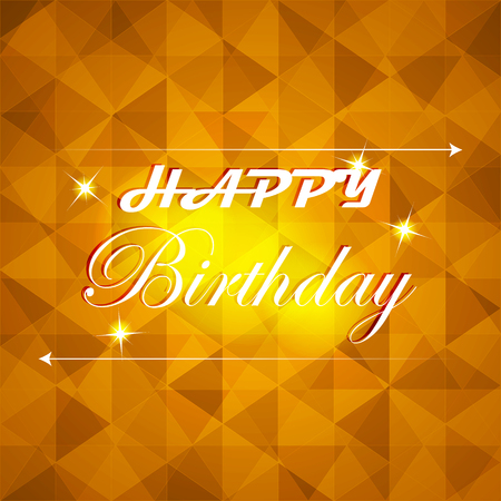 happy birthday vector: Happy birthday vector illustration with light on the background Illustration