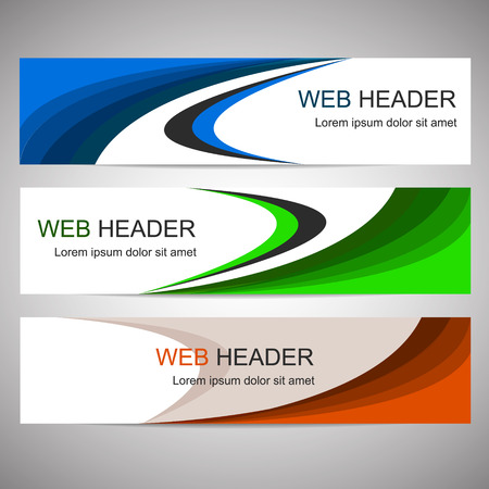 Simple horizontal web headers or banners Ilustração