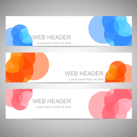 Simple horizontal web headers or banners Illustration