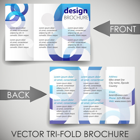 Tri fold corporate business store brochure Vector