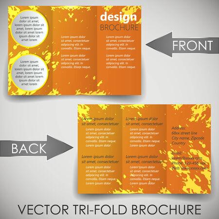 Tri fold corporate business store brochure Vector