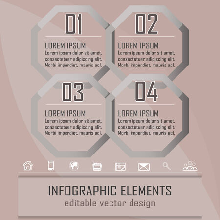 versions: Modern infographic option banner with four steps