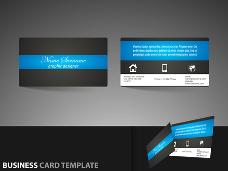 visiting card: Business card or visiting card template
