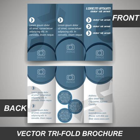 Tri fold corporate business store brochure, cover design, template Vector