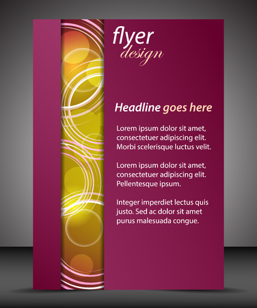 brochure cover design: Business A4 booklet cover with circular pattern