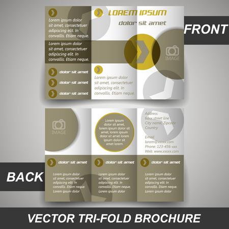 Tri fold corporate business store brochure, cover design  Vector