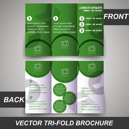 tri: Tri fold corporate business store brochure, cover design