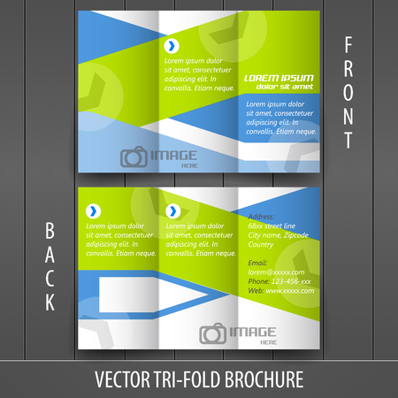 Tri-fold business store brochure, cover design Vector