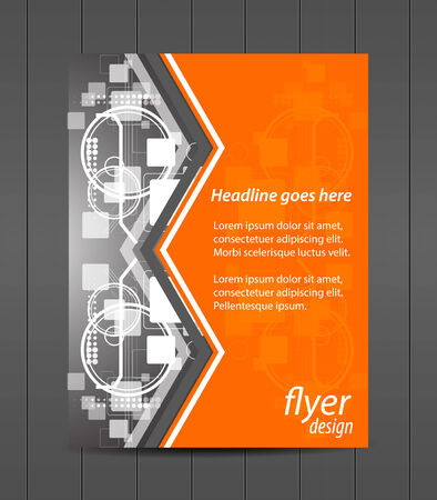 Professional business flyer template or corporate banner, cover design Иллюстрация