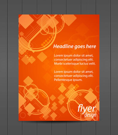 magazine: Professional business flyer template or corporate banner, cover design Illustration