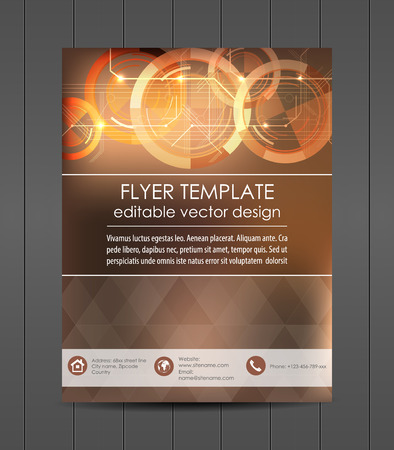 Business flyer template, cover design or corporate banner Ilustracja