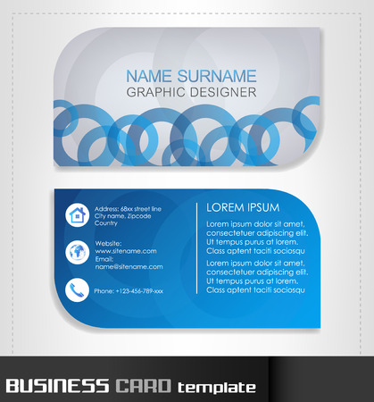 Business card template Vectores