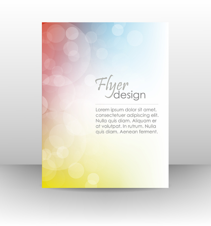 Professional business flyer template or corporate banner, cover design Illustration