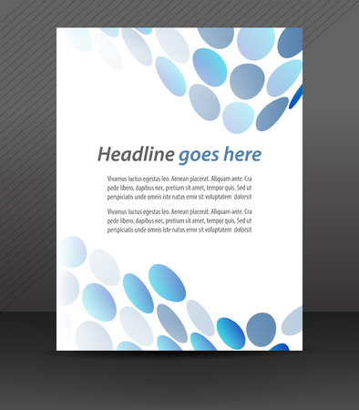 deisgn: Professional business flyer template or corporate banner, cover deisgn