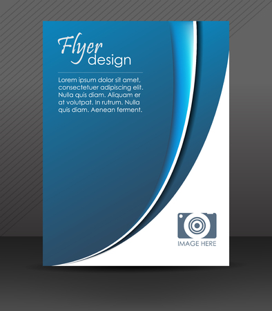 Professional business flyer template, brochure, cover design or corporate banner Vector
