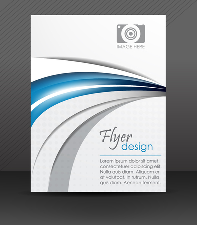 Abstract flyer or cover design with halftone effect Vector