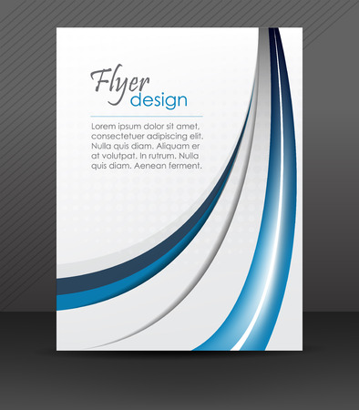 Abstract flyer or cover design with halftone effect Vectores