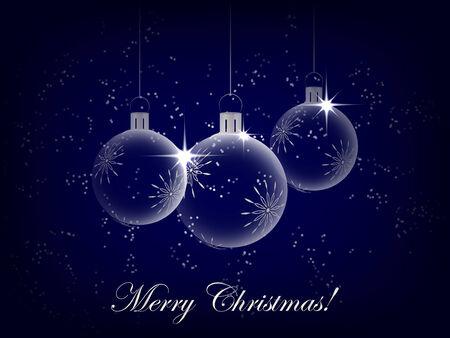 クリスマスの背景の装飾、クリスマス ボール、クリスマスのグリーティング カードに
