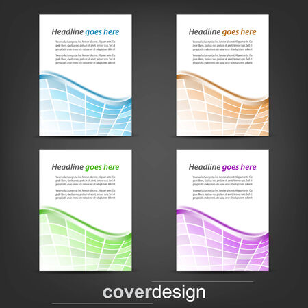 Set of corporate flyer, poster template or cover design Illustration