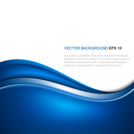 Abstract blue vector background with wave Stock Vector - 32485954