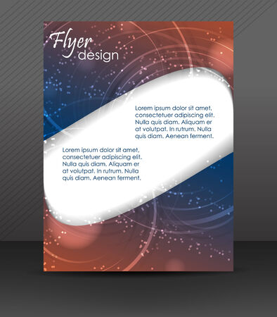 Abstract flyer or cover design, brochure, corporate banner Vector
