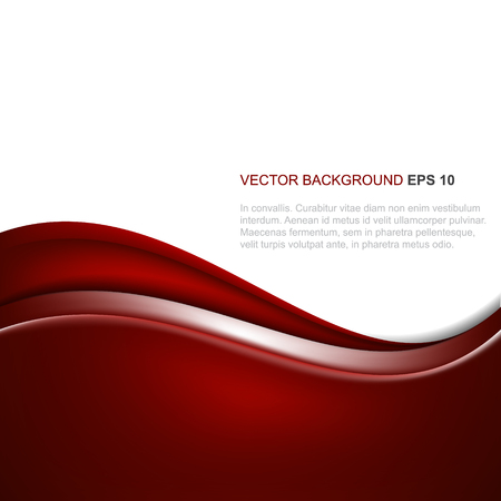 Abstract vector background in red color with wave, design with place for your content or creative editing