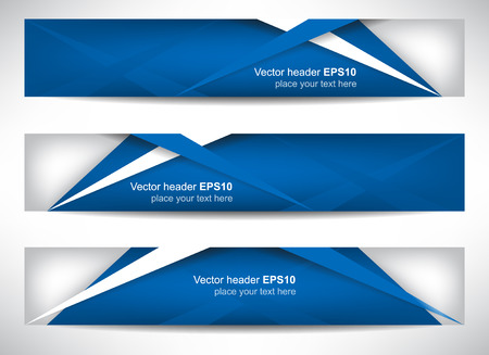 header image: Web header, set of vector banners with precise dimension Illustration