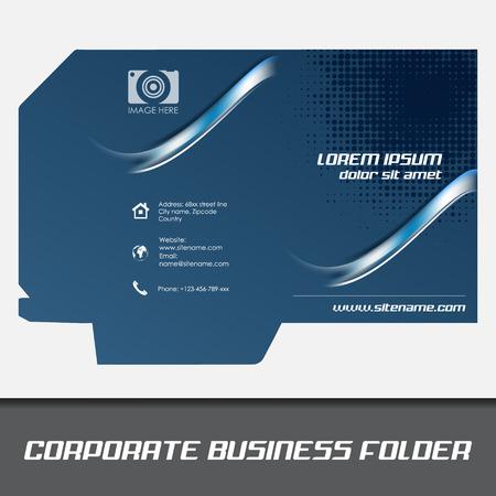 Corporate business folder template, document folder Vector