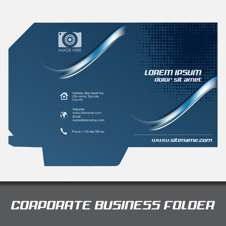 Corporate business folder template document folder royalty free corporate business folder template document folder stock vector 32866920 wajeb Image collections