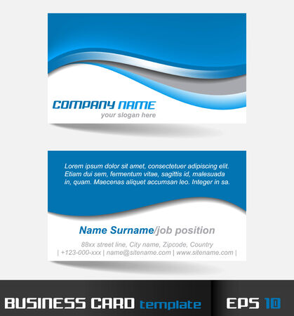 visiting card: Business card template or visiting card set