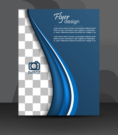 Professional business flyer template or corporate banner, cover design or brochure Vector