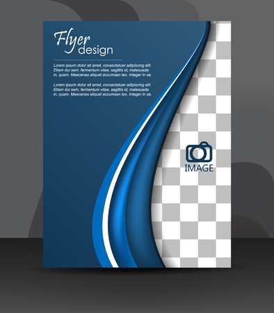 Professional business flyer template or corporate banner, cover design or brochure