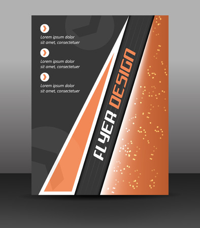 cataloged: Business flyer template, corporate banner or cover design, vector illustration Illustration