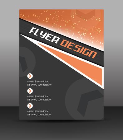 Business flyer template, corporate banner or cover design, vector illustration Illustration