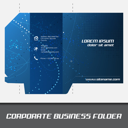 Corporate business folder or document folder template, editable vector design