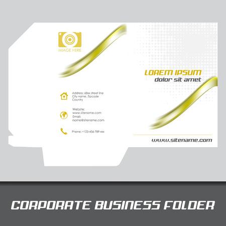corporate business folder or document folder template editable