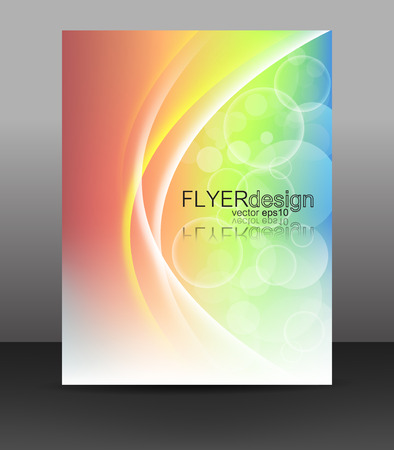 Business flyer template or corporate banner, brochure or cover design