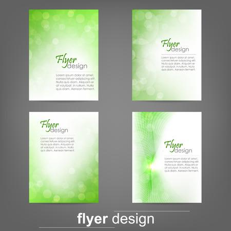 Set of business flyer template for cover design, document folder Vector