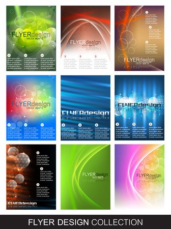 Flyer design collection, set of corporate banner for cover design