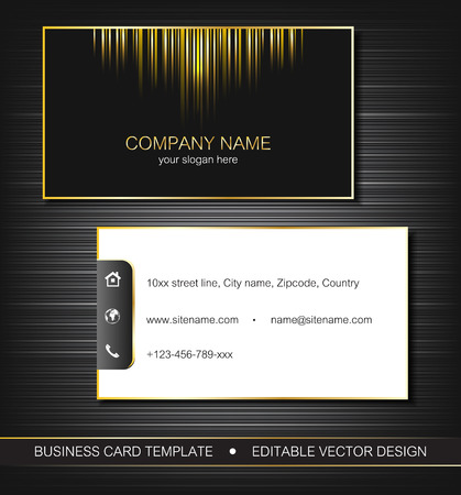 Business card template with gold lines front and back side royalty business card template with gold lines front and back side stock vector 33136294 accmission Image collections