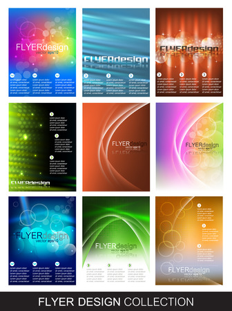 Flyer design collection, set of nine corporate banner for cover design Vector