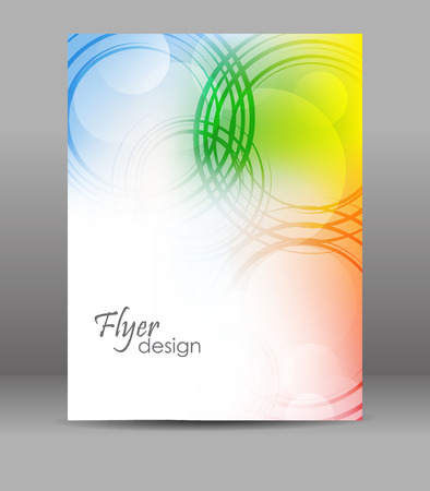 Abstract flyer or brochure template, cover design, editable vector design