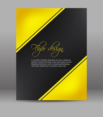 fond sombre: Flyer ou de couverture conception, fond sombre avec motif jaune